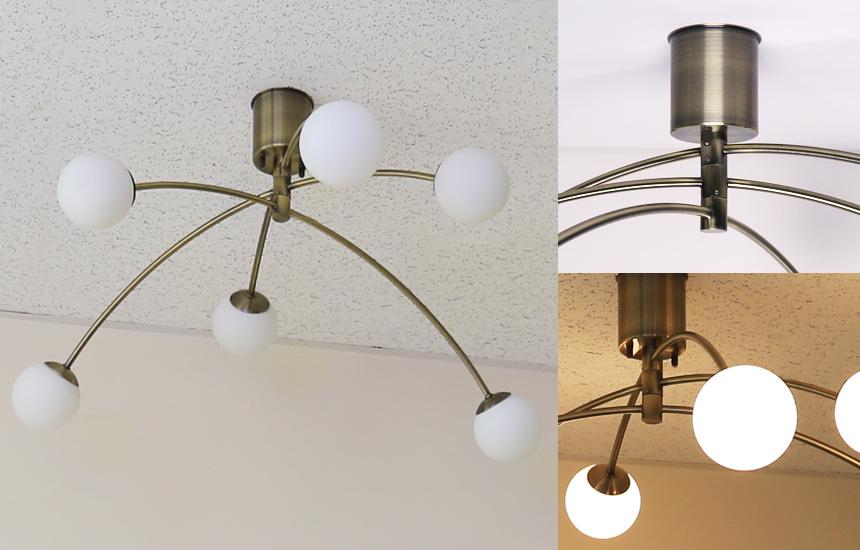 6灯LEDシャンデリア