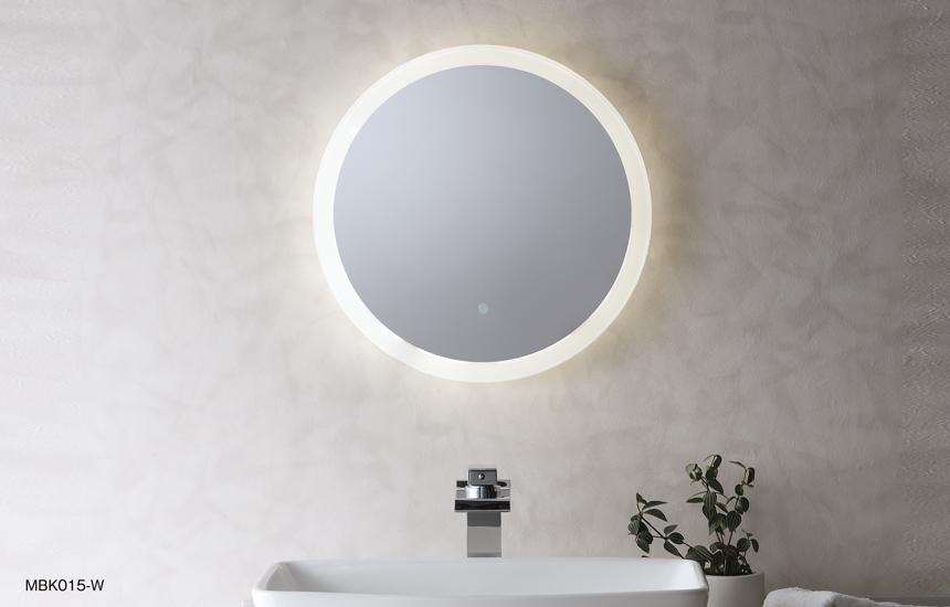 ライト付き鏡mbk015w