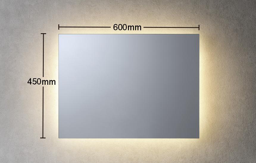 間接光450×600LED一体型ミラーライト 曇り止めヒーター無し